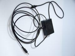 Klinkenstecker, Kabel und Box für die Kameraauslösung