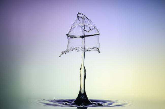 Tropfenfotografie, watersculpture